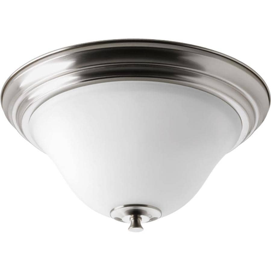 Progress Lighting Cantata 15-in W Brushed Nickel Flush Mount Light