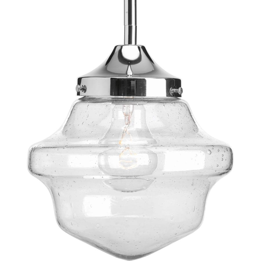 Progress Lighting Schoolhouse 8-in Chrome Mini Clear Glass Schoolhouse Pendant  sc 1 st  Loweu0027s & Shop Progress Lighting Schoolhouse 8-in Chrome Mini Clear Glass ...