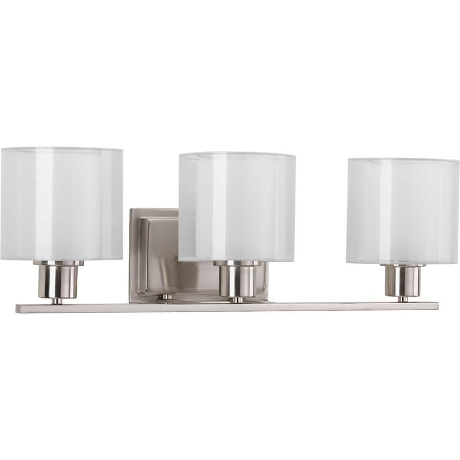 Shop Progress Lighting Invite 3 Light 7 5 In Brushed Nickel Oval Vanity Light