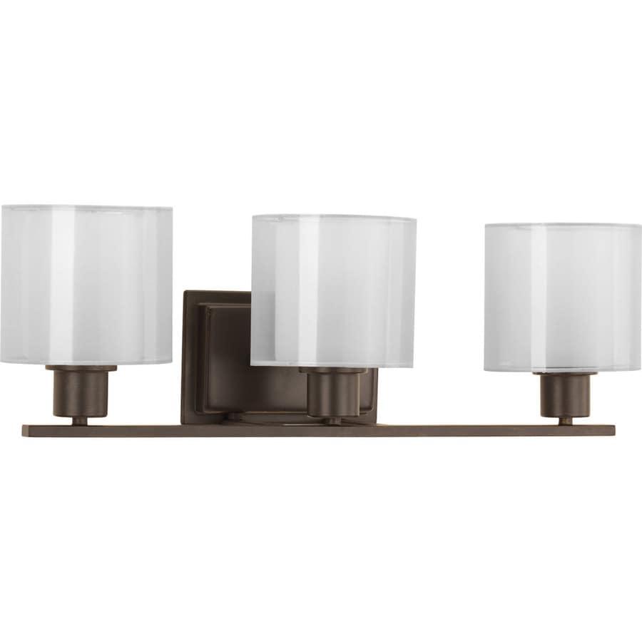 Progress Lighting Invite 3-Light 7.5-in Antique bronze Oval Vanity Light