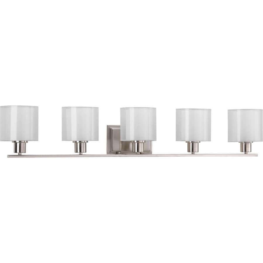 5 Light Bathroom Vanity Light: Shop Progress Lighting Invite 5-Light 41.5-in Brushed