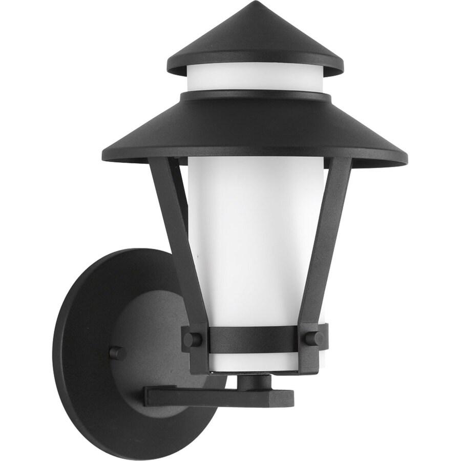 Progress Lighting Via 10.75-in H Black Outdoor Wall Light