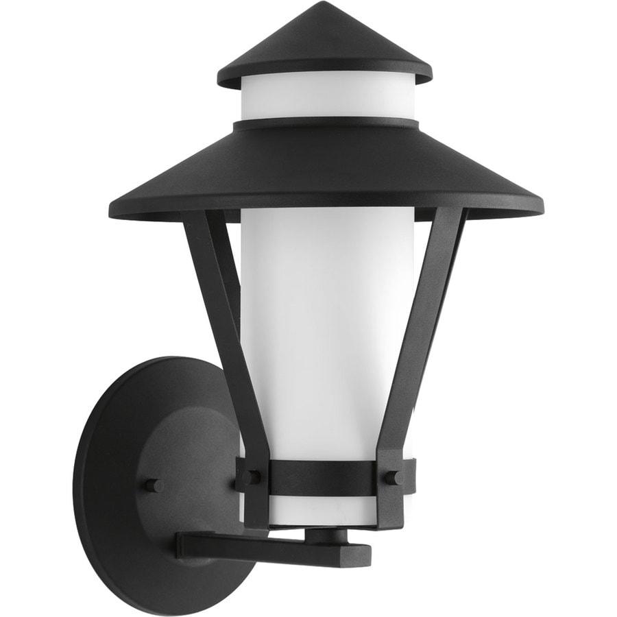 Progress Lighting Via 14-in H Black Outdoor Wall Light