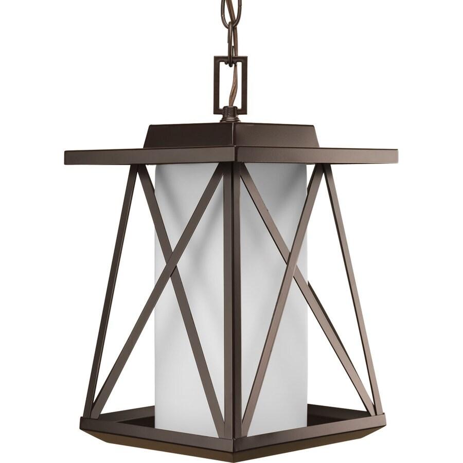Progress Lighting Scope 13.75-in Antique Bronze Outdoor Pendant Light