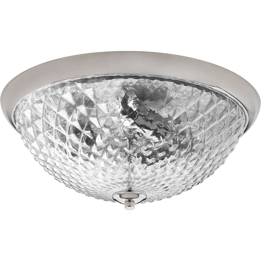 Progress Lighting Entice 14.5-in W Polished Nickel Flush Mount Light