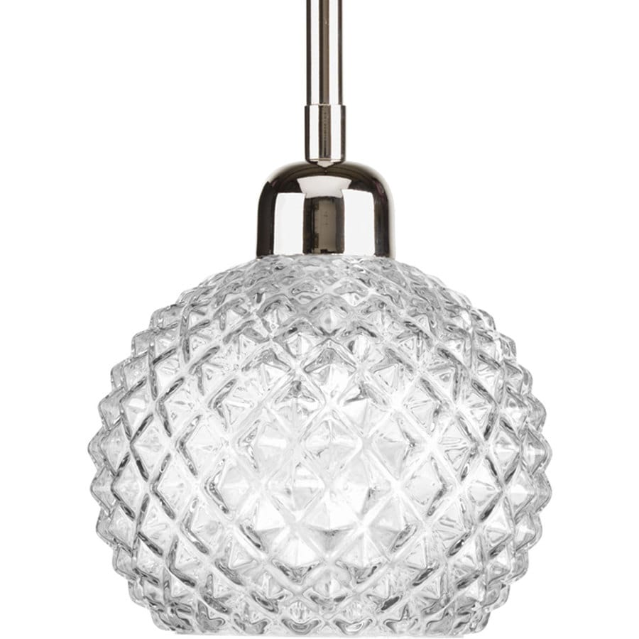 Progress Lighting Entice 6-in Polished Nickel Mini Clear Glass Bell Pendant