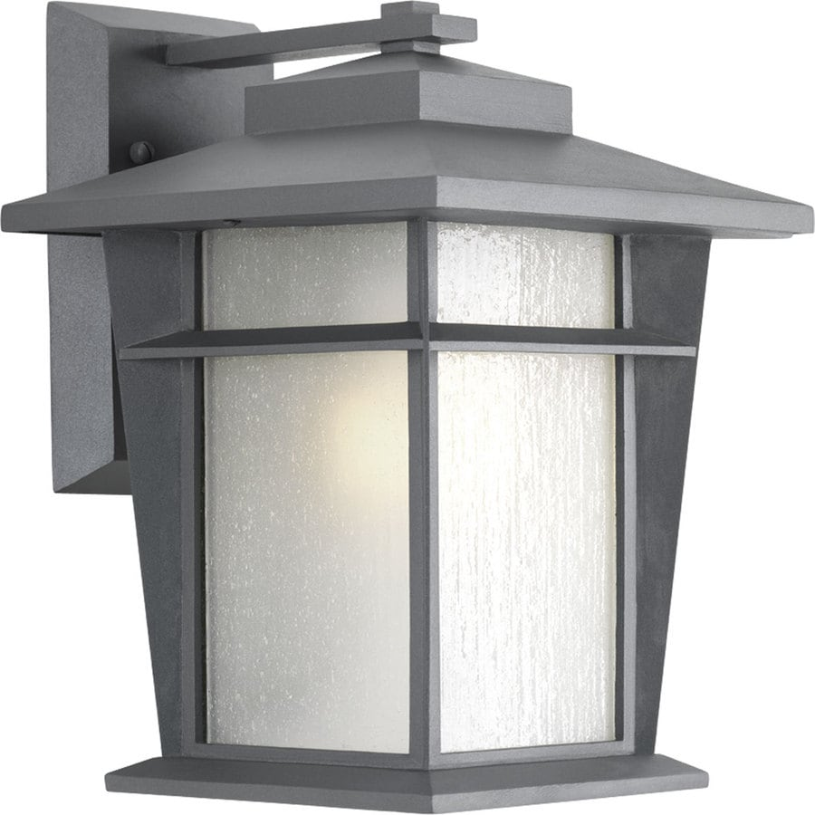 Progress Lighting Loyal 12.875-in H Textured Graphite Outdoor Wall Light ENERGY STAR