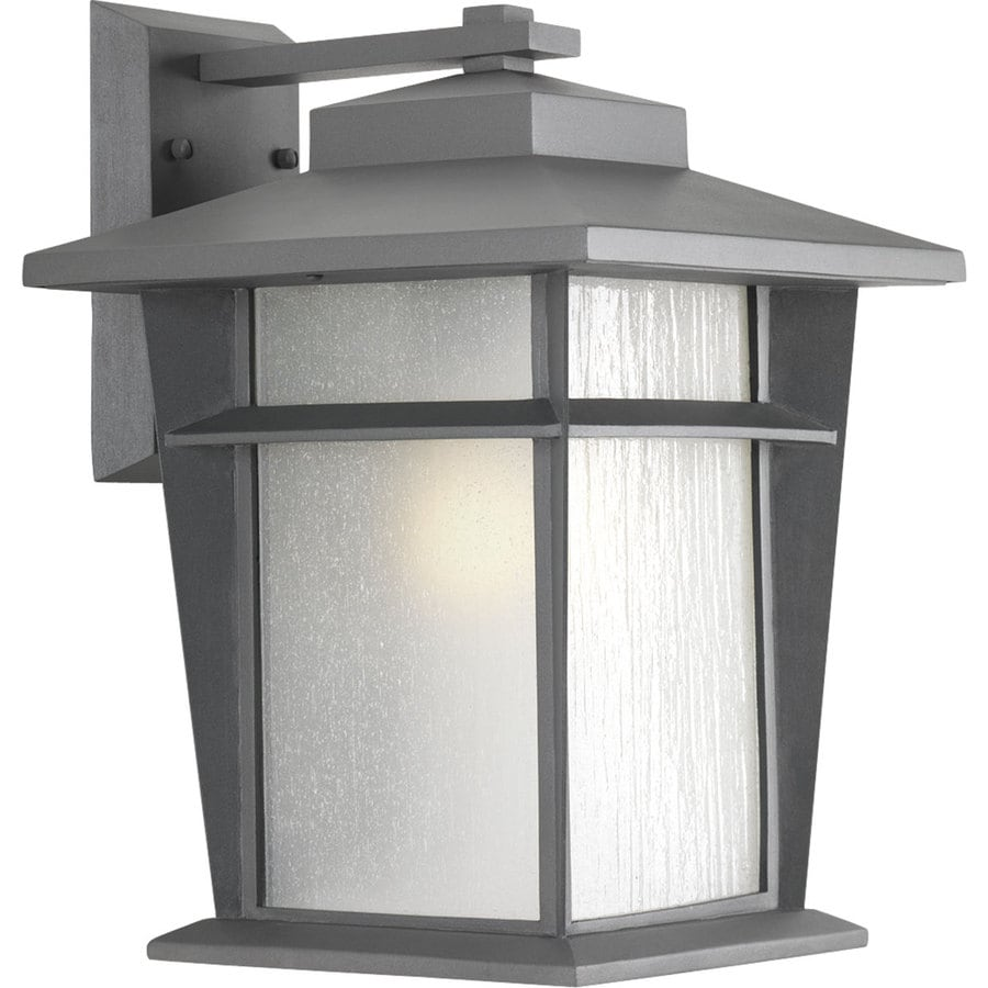 Progress Lighting Loyal 15.75-in H Textured Graphite Outdoor Wall Light ENERGY STAR