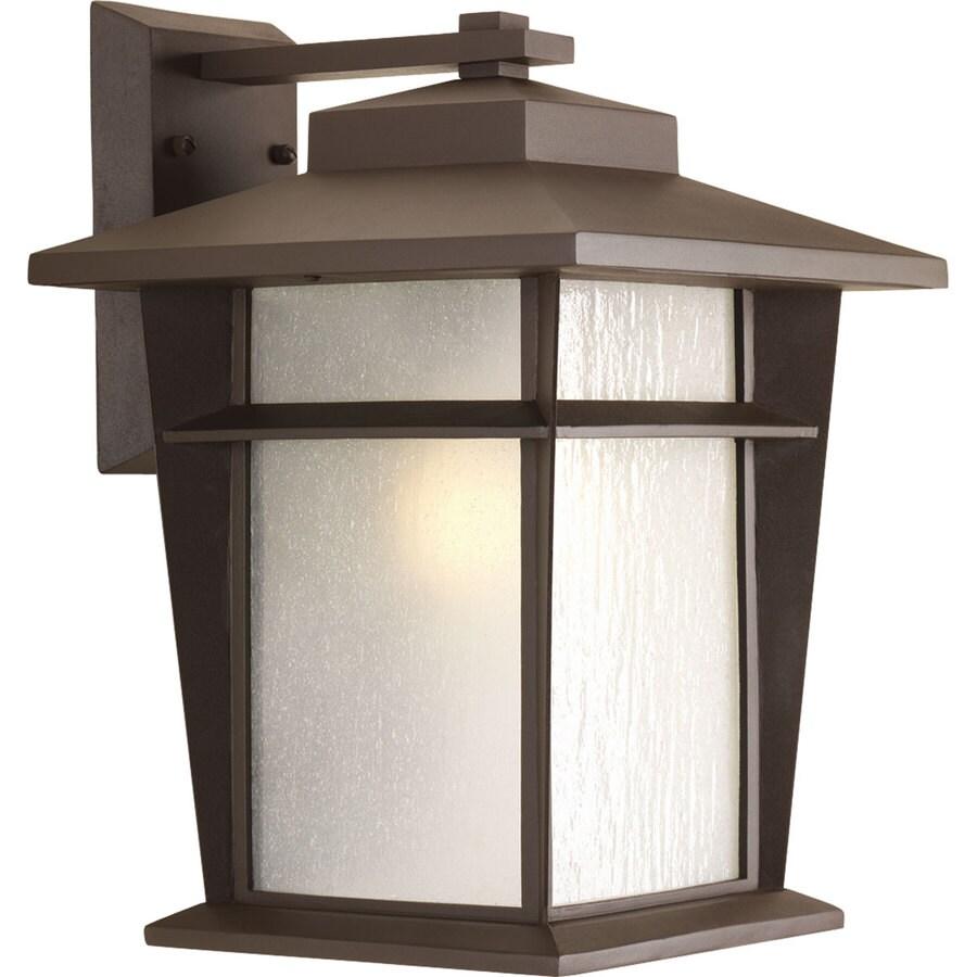 Progress Lighting Loyal 15.75-in H Antique Bronze Outdoor Wall Light ENERGY STAR