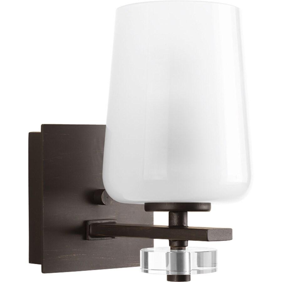 Progress Lighting Indulge 1-Light 8.375-in Antique Bronze Cylinder Vanity Light