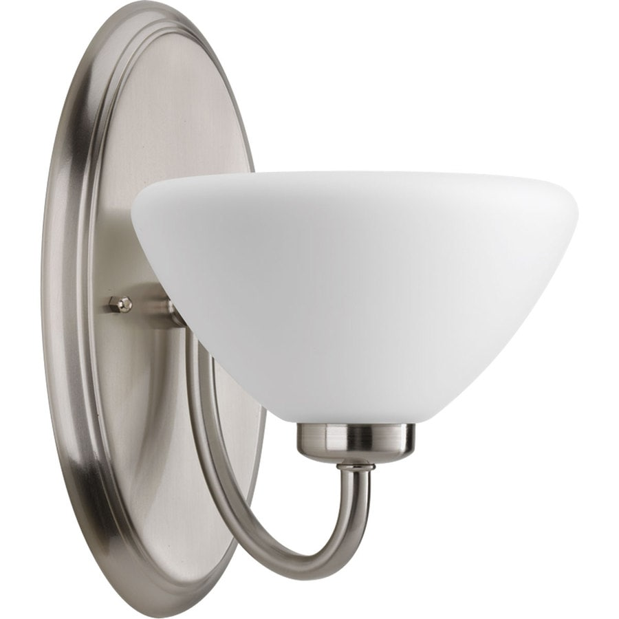 Progress Lighting Rave 1-Light 10.875-in Brushed Nickel Bowl Vanity Light