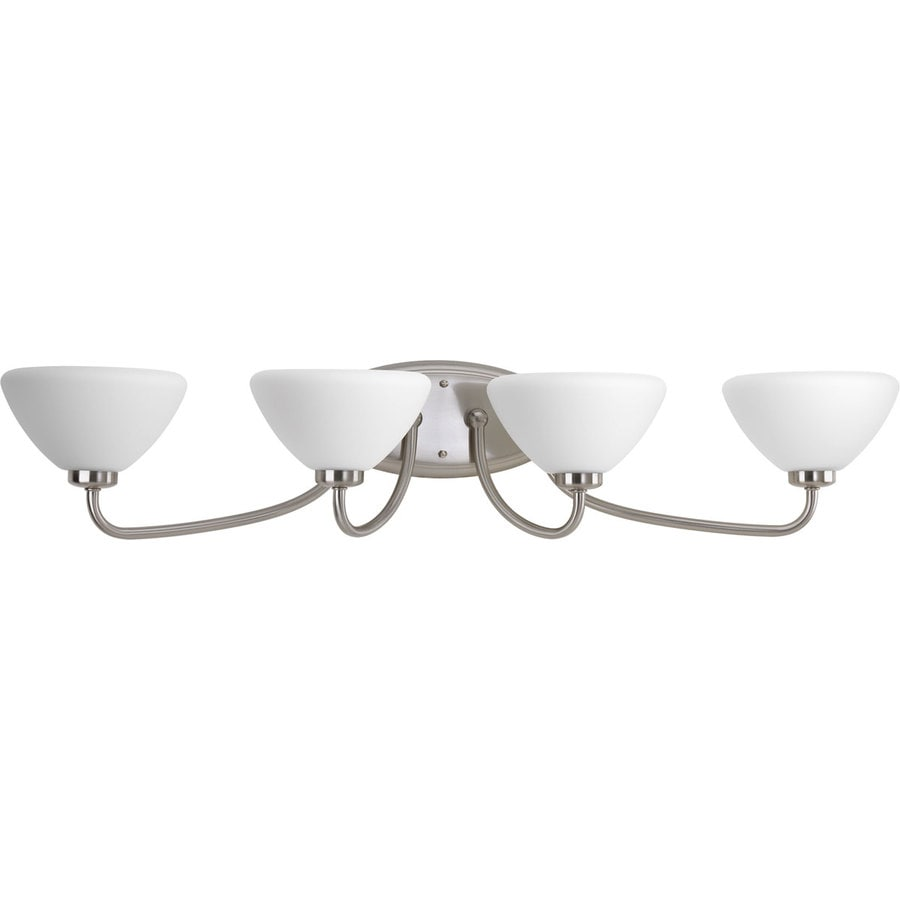 Progress Lighting Rave 4-Light 7.125-in Brushed nickel Bowl Vanity Light