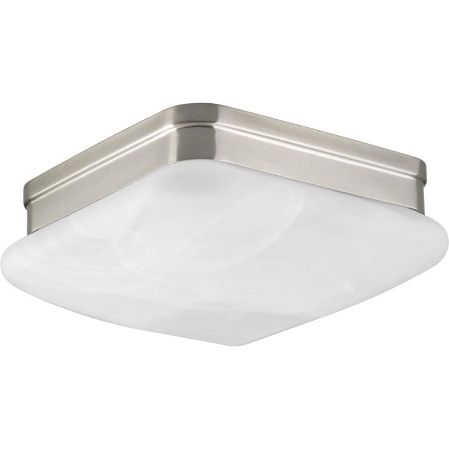 Progress Lighting Appeal 9-in W Brushed Nickel Standard Flush Mount Light