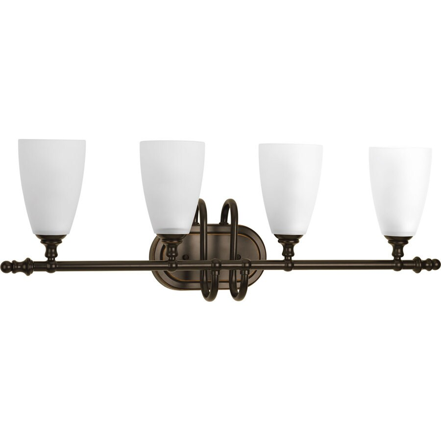 Progress Lighting Revive 4-Light 10.125-in Antique Bronze Cone Vanity Light