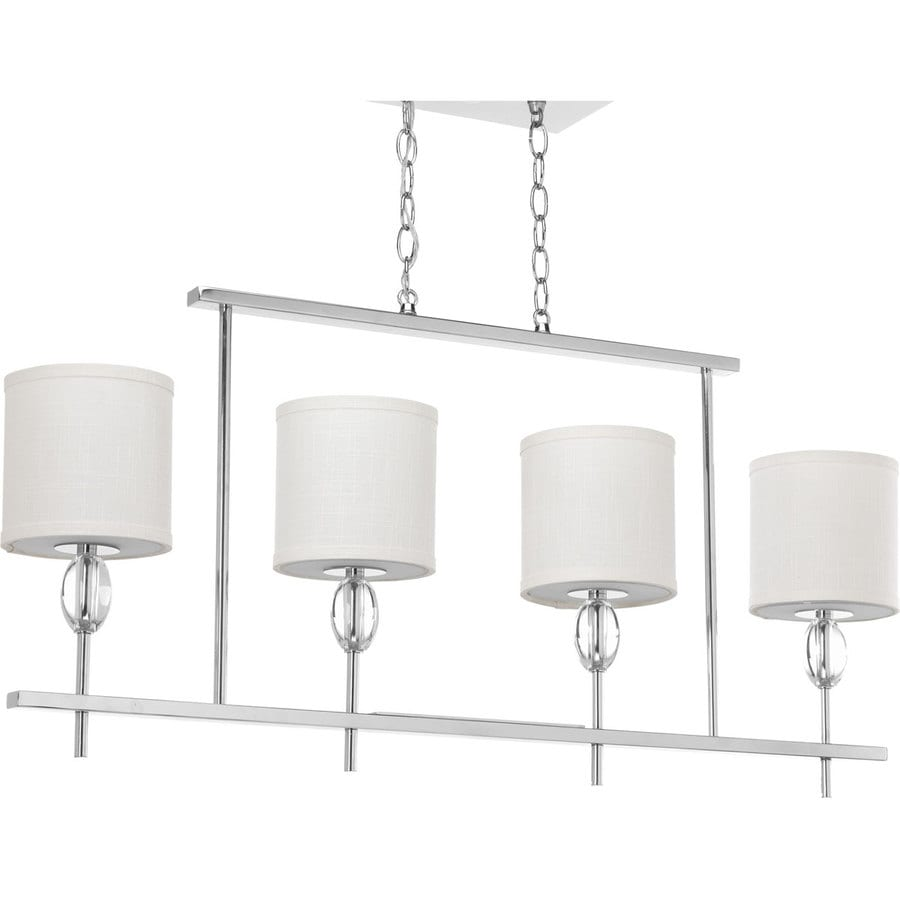 Progress Lighting Status 38-in 4-Light Polished chrome Shaded Chandelier