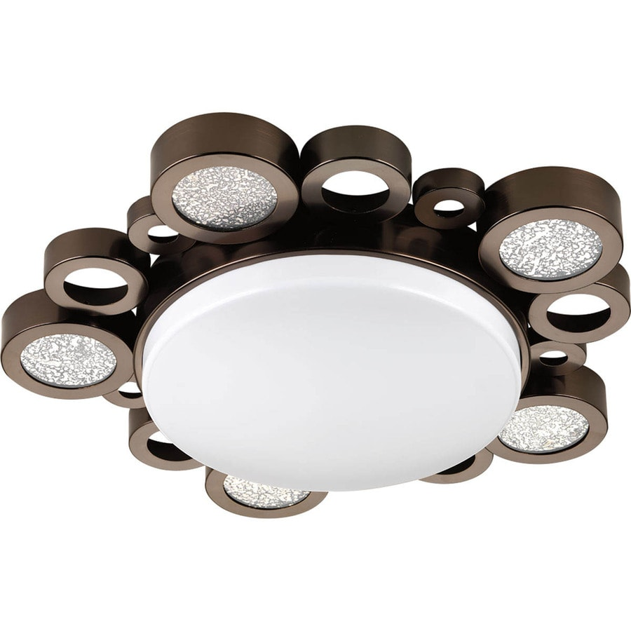 Progress Lighting Bingo 18.75-in W Venetian Bronze LED Flush Mount Light