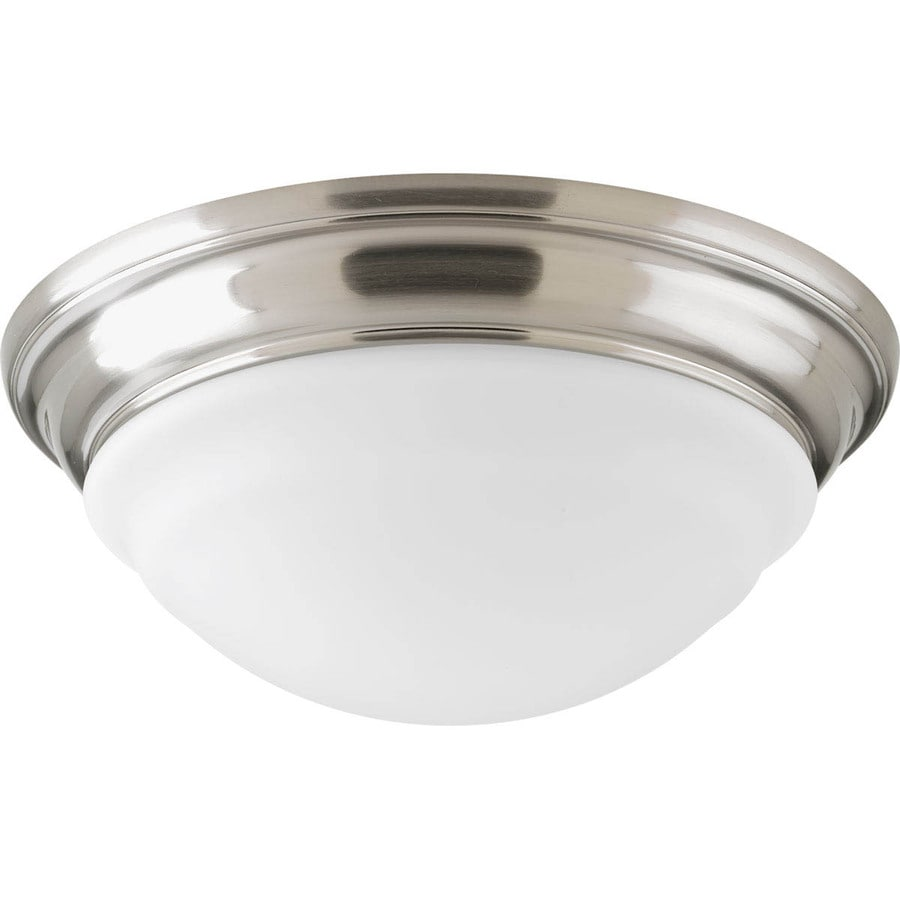 Progress Lighting LED Flush Mount 11-in W Brushed nickel LED Flush Mount Light ENERGY STAR