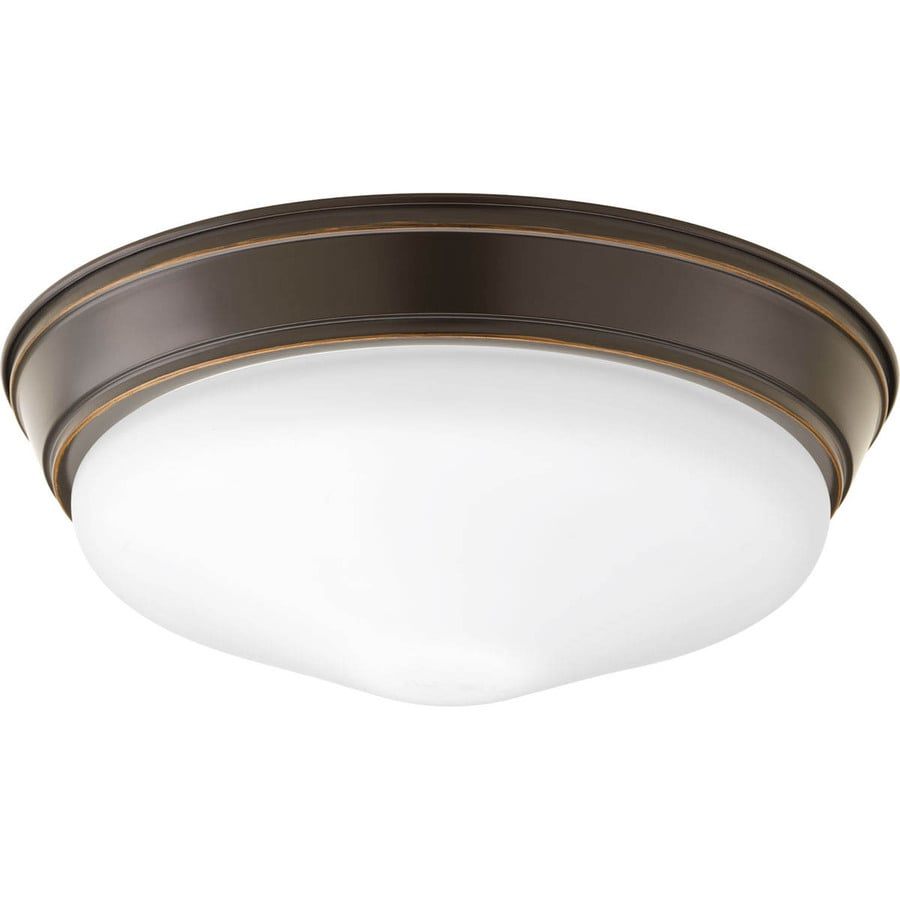 Progress Lighting Led Flush Mount 13.25-in W Antique Bronze LED Flush Mount  Light