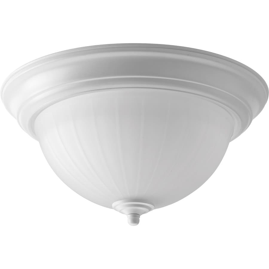 Progress Lighting Led Flush Mount 11.375-in W White LED Flush Mount Light
