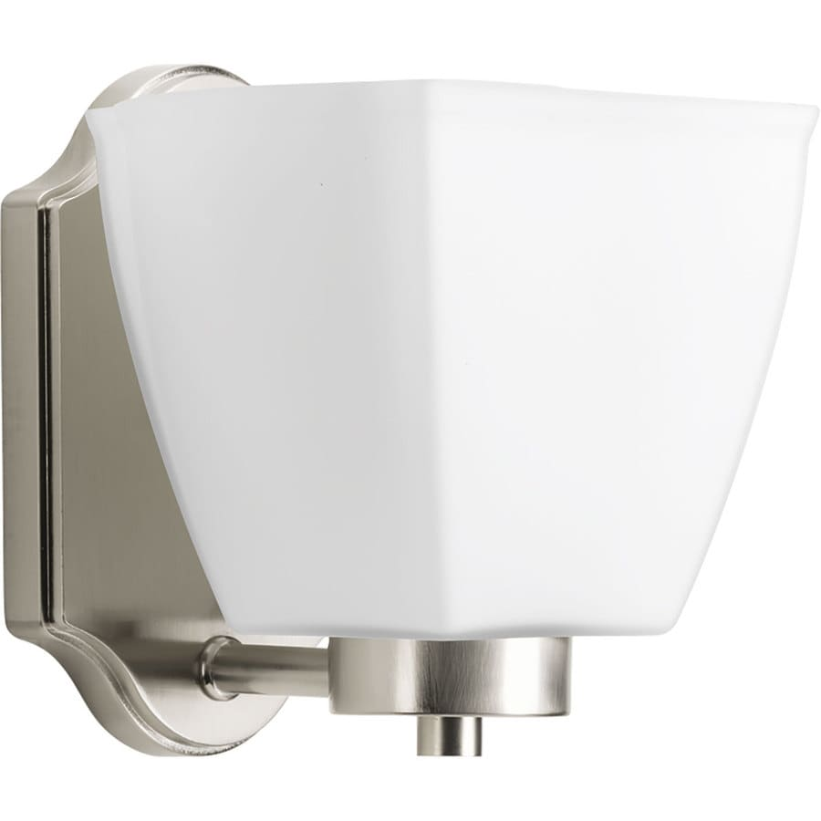Progress Lighting Bounty 1-Light 6.75-in Brushed Nickel Square Vanity Light