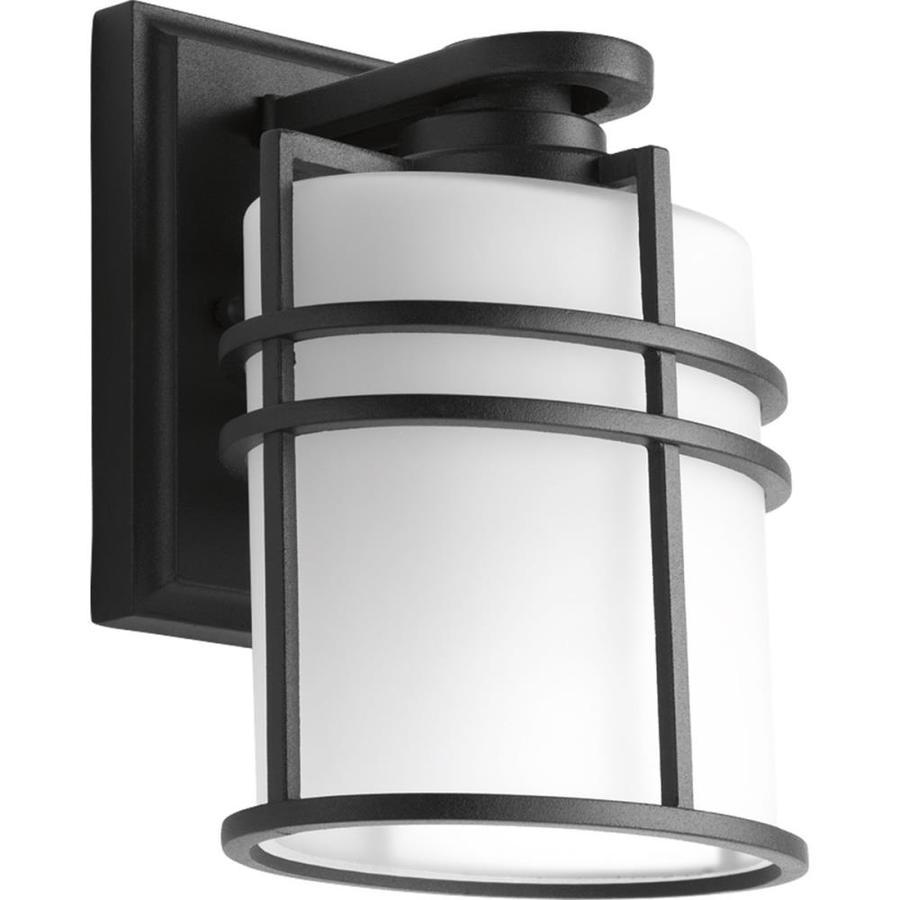 Progress Lighting Format 7.625-in H Black Outdoor Wall Light