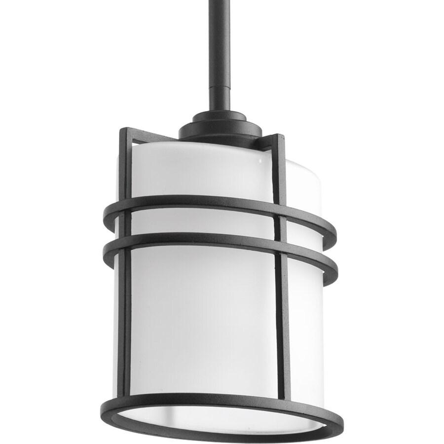 Progress Lighting Format 7.375-in Black Outdoor Pendant Light