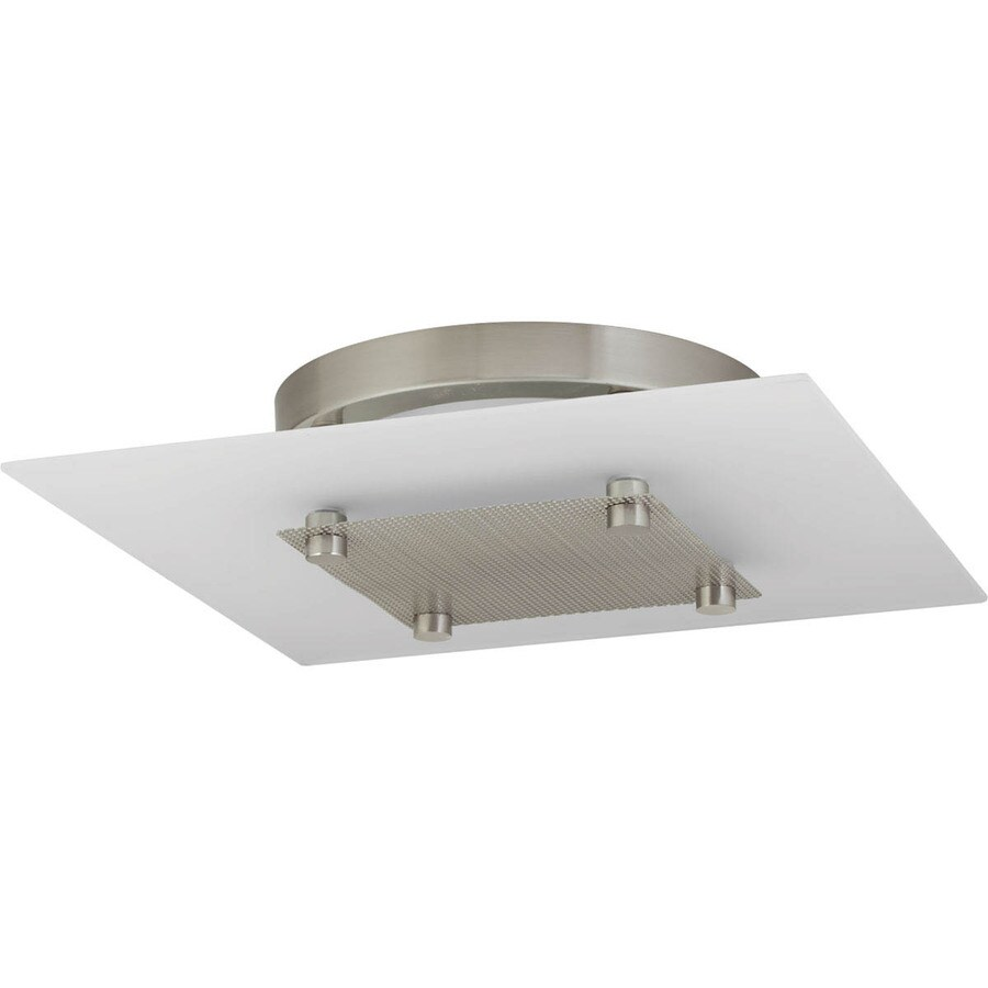 Progress Lighting Beyond 12-in W Brushed Nickel LED Flush Mount Light