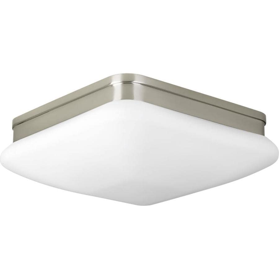 Progress Lighting Appeal 11-in W Brushed Nickel Standard Flush Mount Light