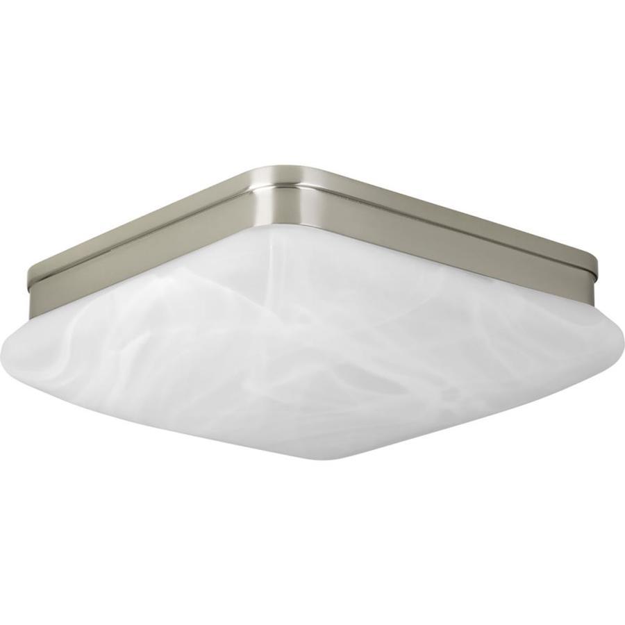 Progress Lighting Appeal 11-in W Brushed Nickel Standard Flush Mount Light