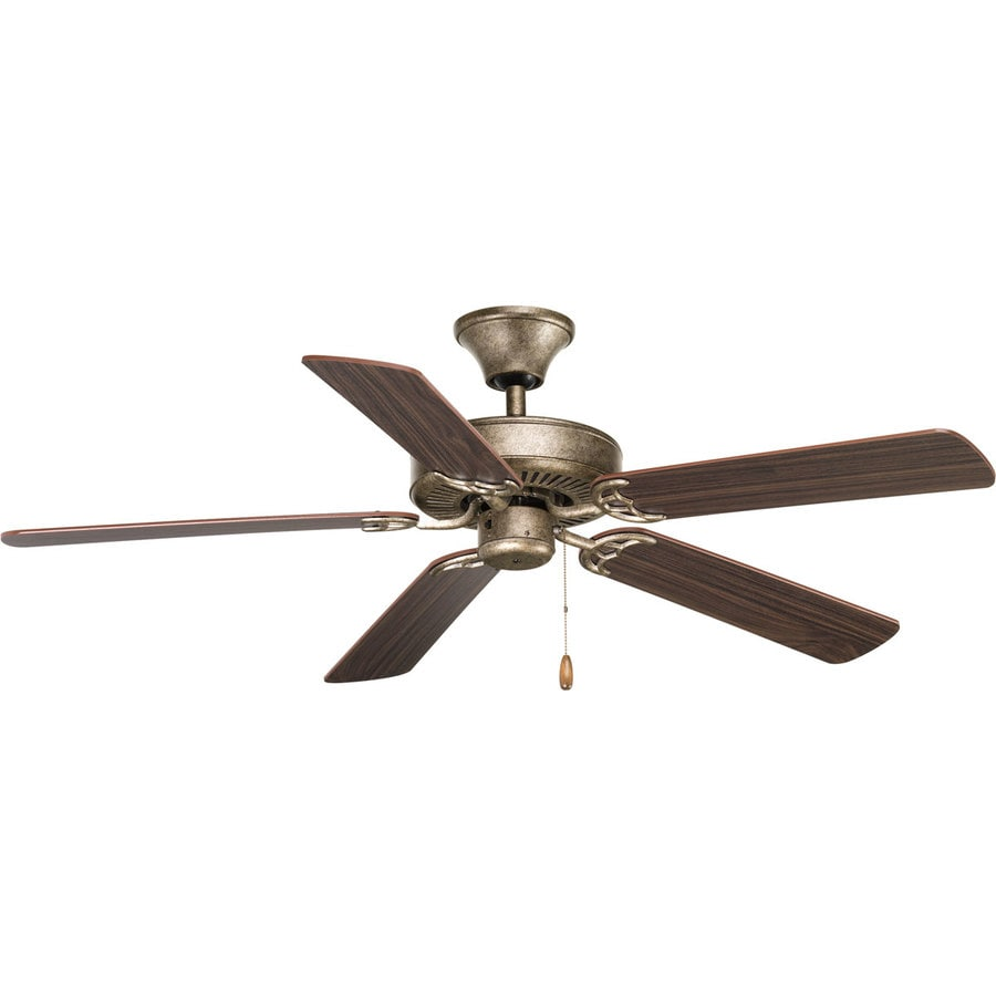 Progress Lighting AirPro 52-in Pebbles Downrod or Close Mount Indoor Ceiling Fan ENERGY STAR