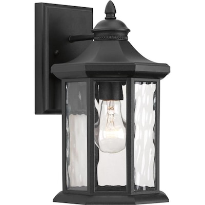 Progress Lighting Edition 12.5 In H Black Medium Base (E 26) Outdoor Wall Light by Lowe's