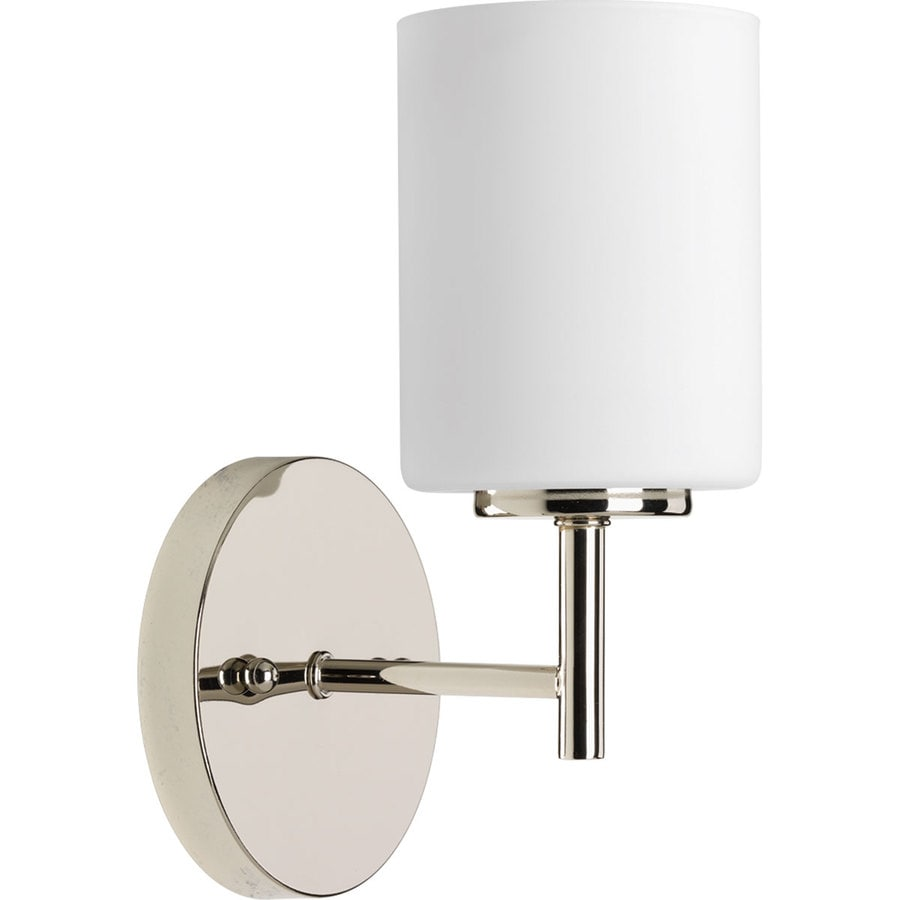 Bathroom Vanity Lights Polished Nickel shop progress lighting replay 1-light 9.75-in polished nickel