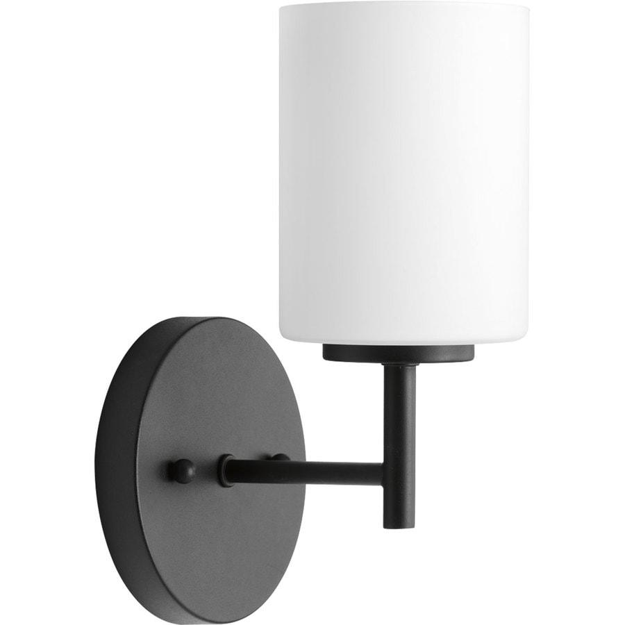 Progress Lighting Replay 1-Light 9.75-in Black Cylinder Vanity Light