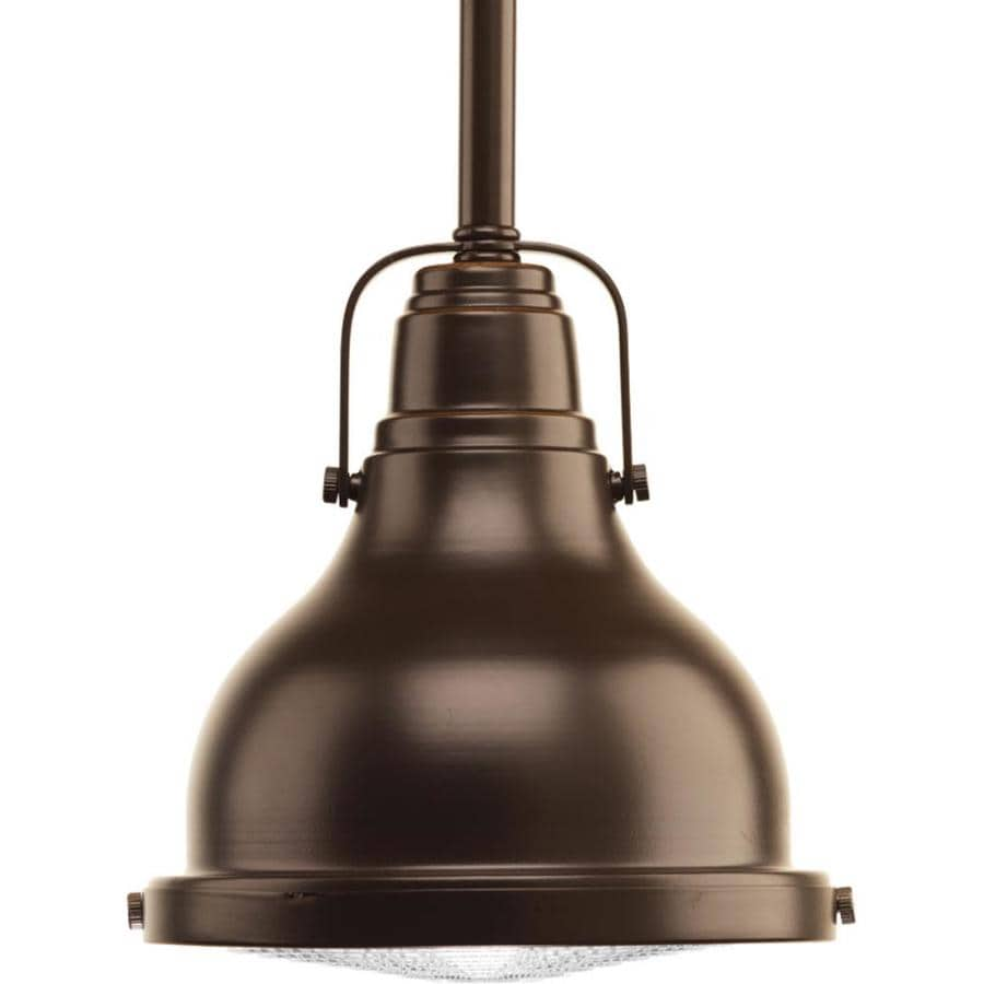 Progress Lighting Fresnel Lens 6.125-in Oil Rubbed Bronze Mini Clear Glass Dome LED Pendant