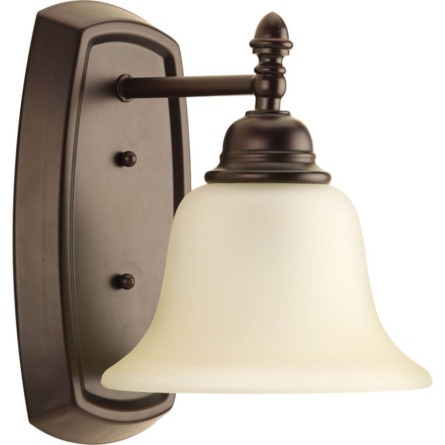 Progress Lighting Spirit 1-Light 10-in Antique bronze Bell Vanity Light