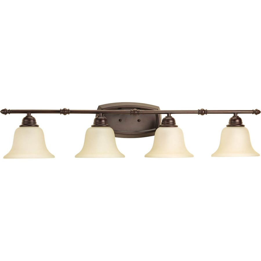 Progress Lighting Spirit 4-Light 7.875-in Antique Bronze Bell Vanity Light