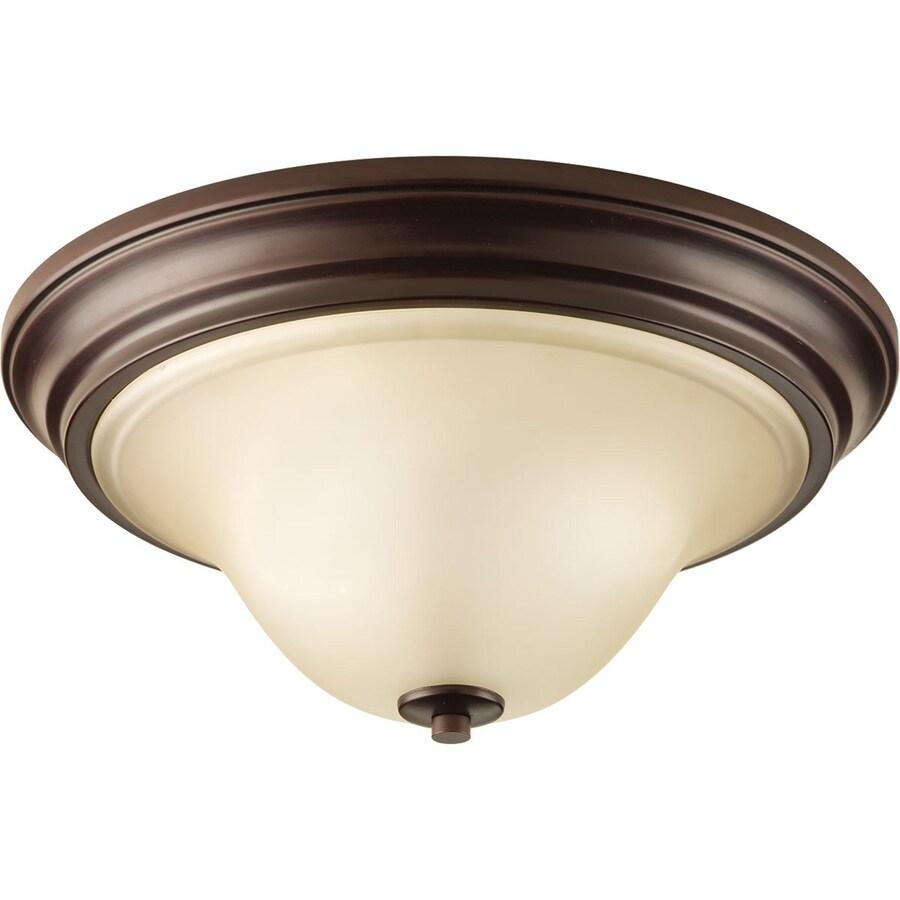 Progress Lighting Spirit 15.125-in W Antique Bronze Standard Flush Mount Light