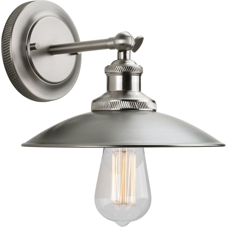 Progress Lighting Archives 9 In W 1 Light Antique Nickel Arm Hardwired Standard Wall