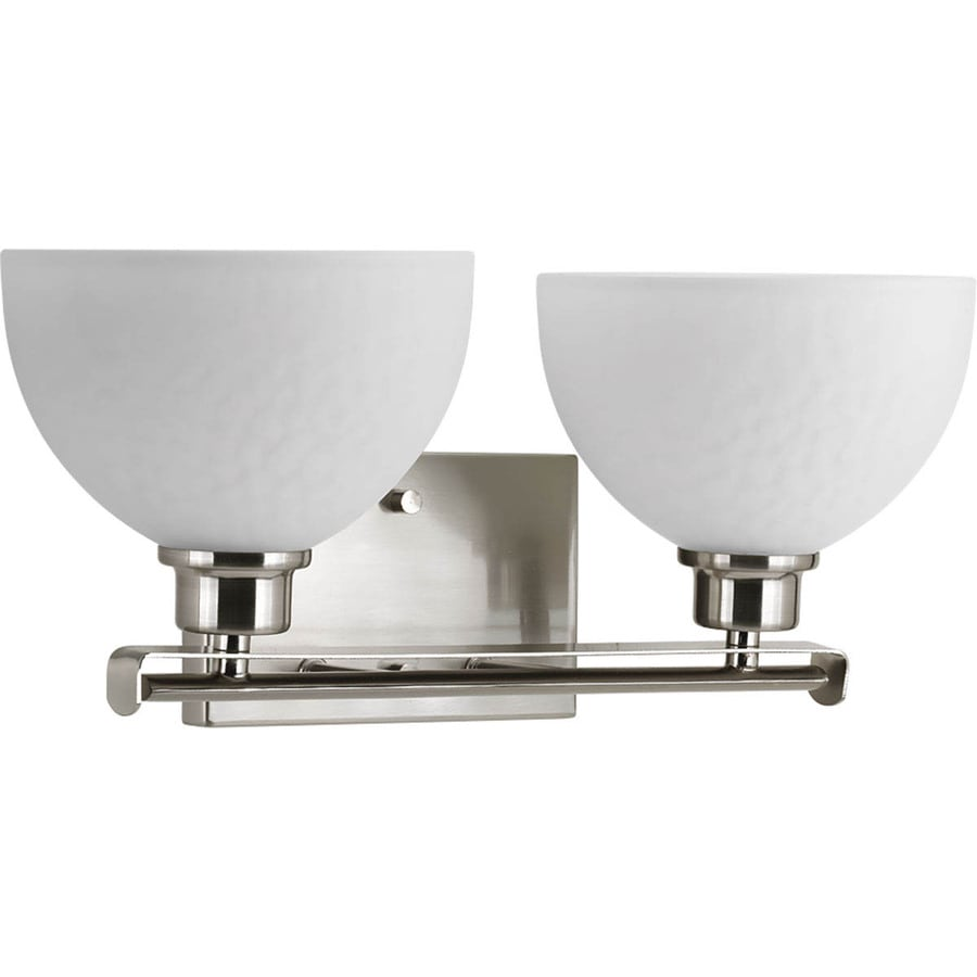 Progress Lighting Legend 2-Light 7.375-in Brushed Nickel Bowl Vanity Light