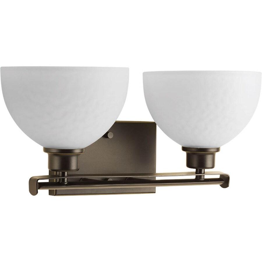 Progress Lighting Legend 2-Light 7.375-in Antique Bronze Bowl Vanity Light