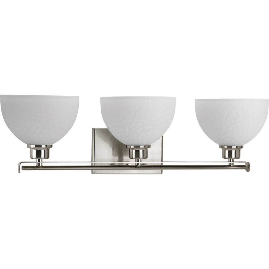 Progress Lighting Legend 3-Light 7.375-in Brushed Nickel Bowl Vanity Light