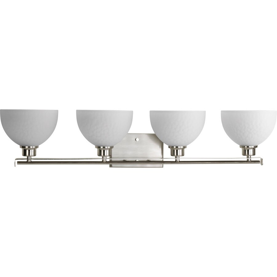 Progress Lighting Legend 4-Light 7.375-in Brushed Nickel Bowl Vanity Light