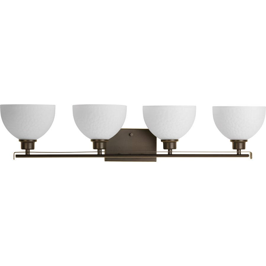 Progress Lighting Legend 4-Light 7.375-in Antique Bronze Bowl Vanity Light