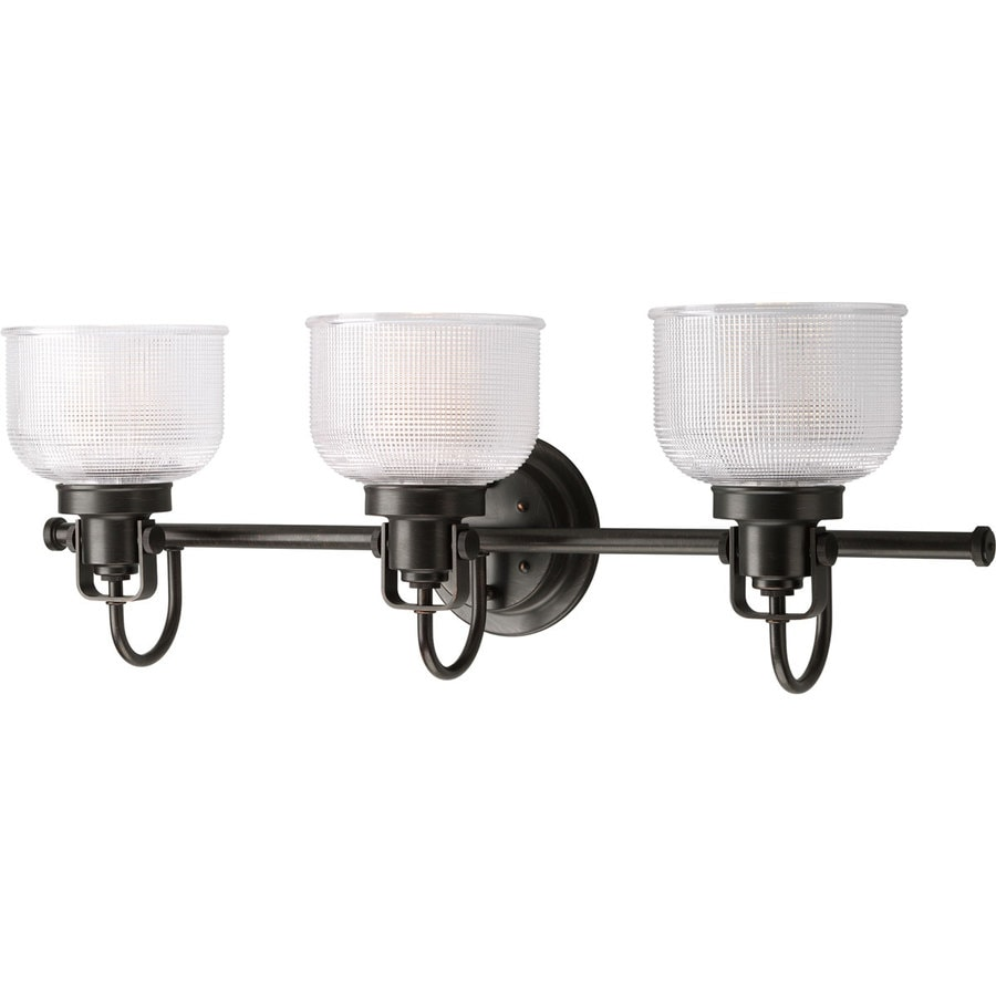 Progress Lighting Archie 3 Light 8 75 In Venetian Bronze Bowl Vanity Light