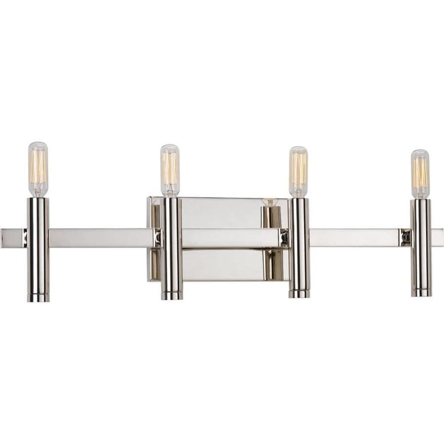 Progress Lighting Draper 4-Light 5.125-in Polished nickel Vanity Light