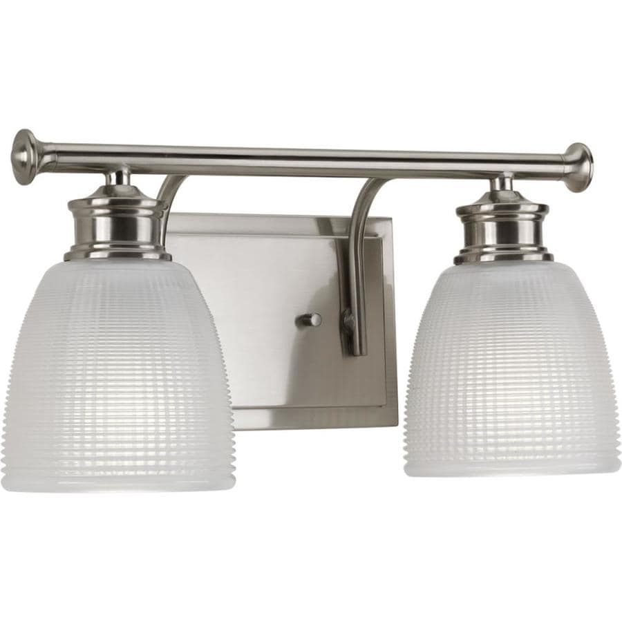 Progress Lighting Lucky 2-Light Brushed Nickel Dome Vanity Light