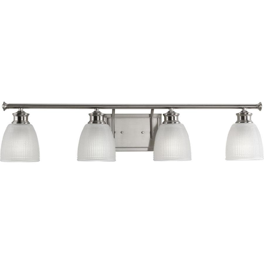 Progress Lighting Lucky 4-Light Brushed Nickel Dome Vanity Light