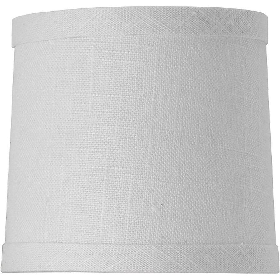 Progress Lighting Identity 4.5-in x 5-in White Fabric Drum Lamp Shade