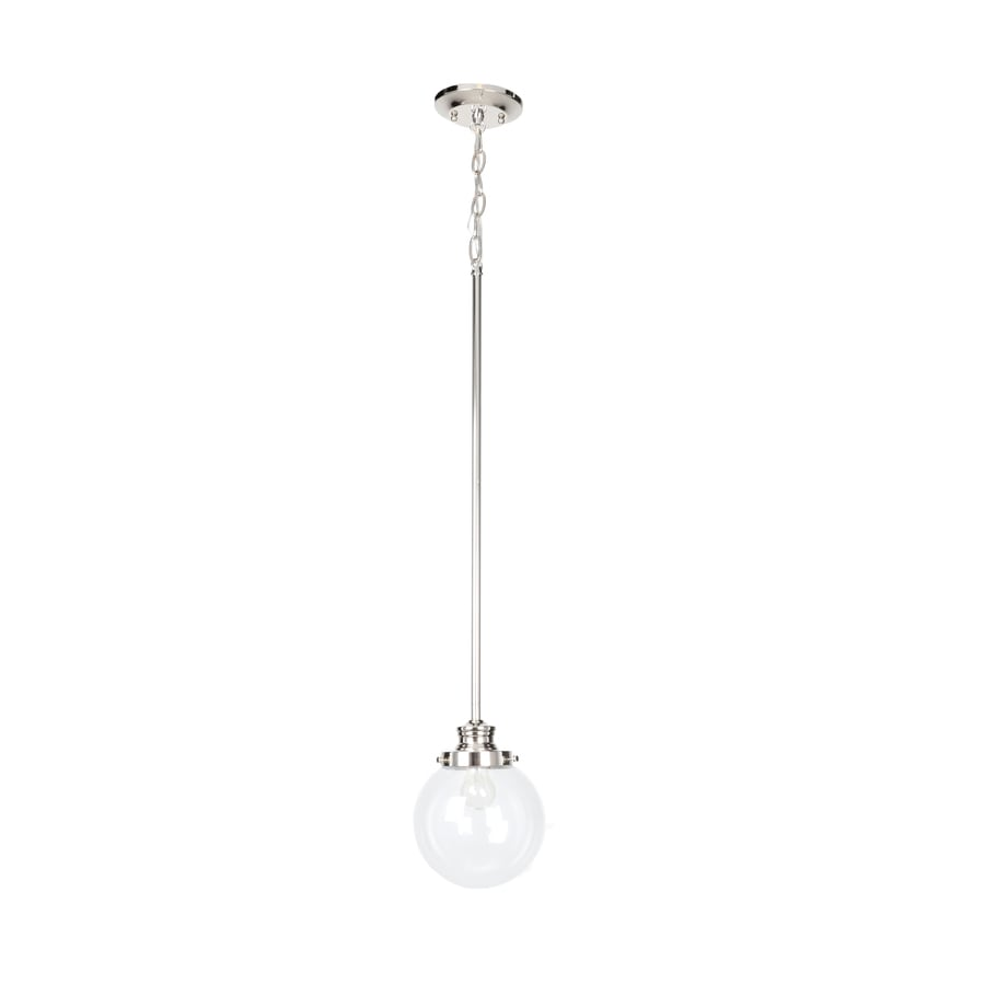 shop progress lighting penn 6 875 in polished nickel mini clear