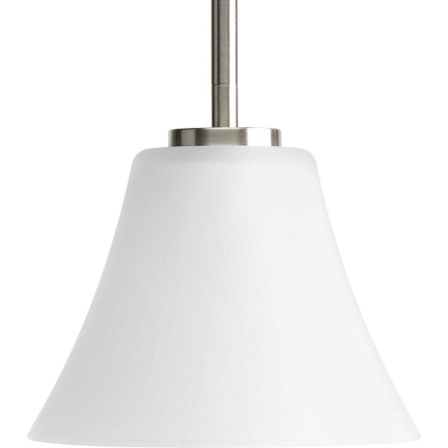 Progress Lighting Bravo 7.25-in Brushed Nickel Mini Etched Glass Globe Pendant